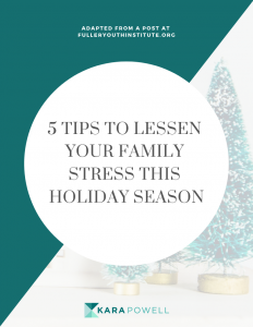 5 tips to lessen your family stress this holiday season